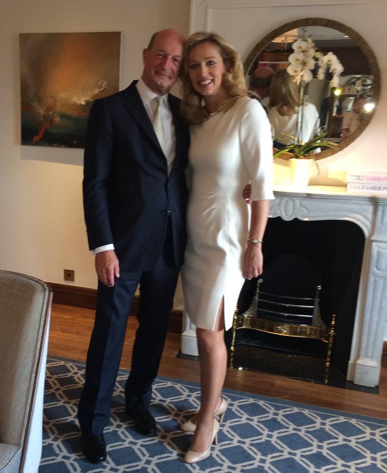 John van Kuffeler pictured with his wife Eva